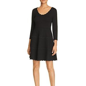 Kate Spade Womens Scalloped Ponte Fit and Flare